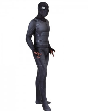 Spider Man Far from Home Black Stealth Suit Cosplay Jumpsuit CP002