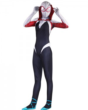 Spider-Man Into the Spider-Verse Spider-Gwen Cosplay Jumpsuit CP003