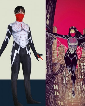 Spider-Man Comic Cindy Moon Silk Cosplay Jumpsuit CP010