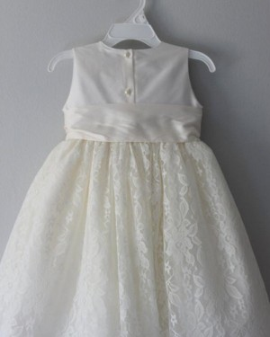 Satin High Neck Girl Dress with Lace Skirt FC0023