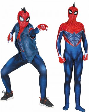 Halloween Super Hero Cosplay PS4 Spider-Punk Bodysuit HC005