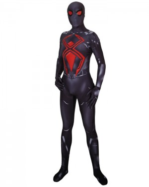 Halloween Super Hero Cosplay PS4 Spiderman Dark Bodysuit HC007