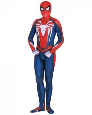Halloween Super Hero Cosplay PS4 Spiderman Advanced Bodysuit HC008