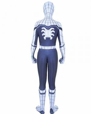 Halloween Hero Man White Cosplay Spiderman Homecoming Bodysuit HC011