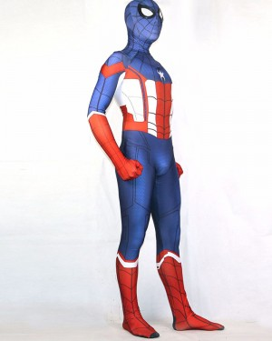 Halloween Hero Spiderman Captain America Bodysuit HC015