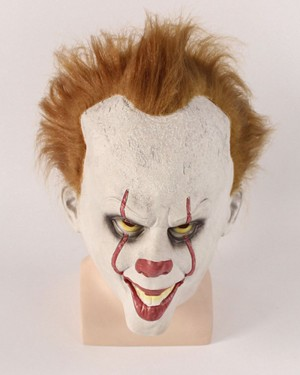 Horror Movie 2018 IT Clown Mask with Hair HM003