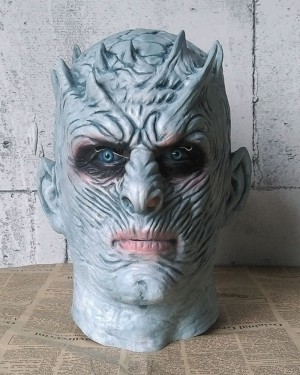 Game of Thrones Latex Night King Cosplay Mask HM007