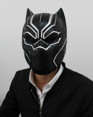Marvel Latex Black Panther Cosplay Mask HM011