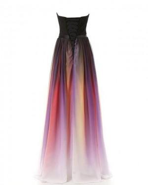 Chiffon Beading Sweetheart Ombre Bridesmaid Dress PD1680