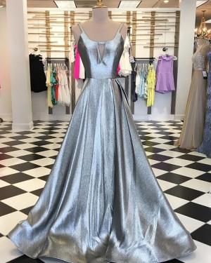 Sparkle Long V-neck Cutout Prom Dress PD1739