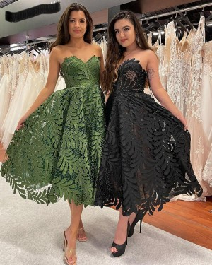 Lace Ankle Length Sweetheart A-line Formal Dress PD2300