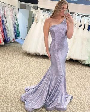 Silver Sequin One Shoulder Mermaid Formal Dress PD2323